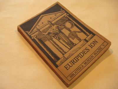 EURIPIDES ION Museion sv. 5 Stuna St. 1931