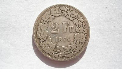 Švýcarsko 2 frank 1874