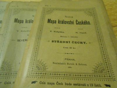 43.Mapa království českého 1895-1897 12.dílů