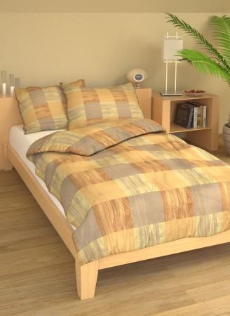 Luxusní bavlněná ložní souprava Krémové čtverce.