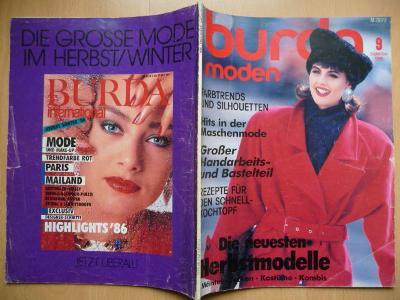 Německý časopis - BURDA MODEN číslo 9. z roku 1986