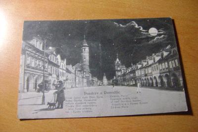 Domažlice-měsíc+báseň-noc, 1930