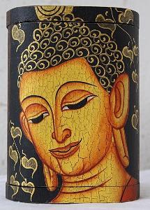 NÁDHERNÁ DŘEVĚNÁ KRABIČKA - BUDHA - BUDDHA /8240