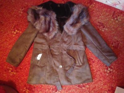 3d455a89e5a KABÁT kožešina zimní bunda kůže S