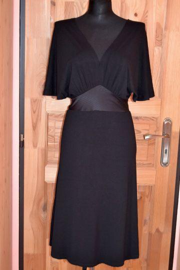dbac34b1b442 Černé šaty Orsay se sklady - vel 34 (XS )