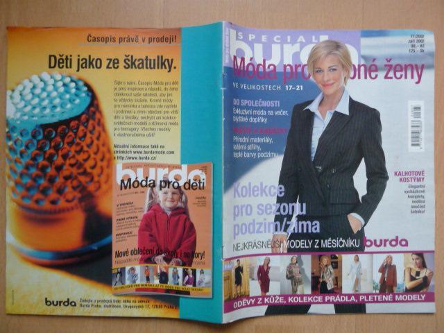 05f0995a2 BURDA SPECIAL Móda pro drobné ženy - číslo 11/2002 (6923412901)