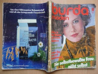 Německý časopis - BURDA MODEN číslo 10 z roku 1983