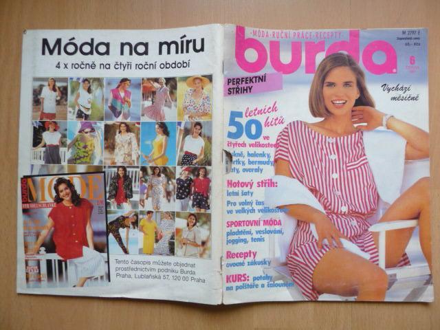 1dd7744f34a4 Časopis - BURDA - číslo 6. z června roku 1991