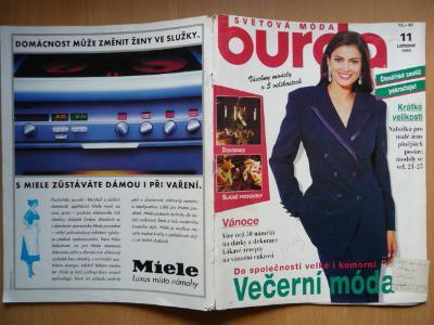 Časopis - BURDA - číslo 11. z listopadu roku 1995