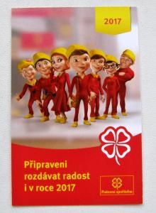 KARTIČKOVÝ KALENDÁŘ 2017 - POŠTOVNÍ SPOŘITELNA