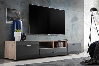 Vkusný stylový televizní stolek CLIF /doprava 0Kč!