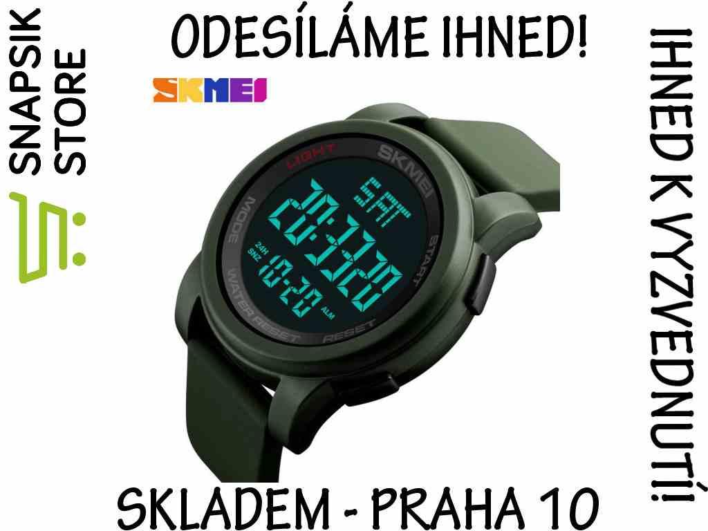 Hodinky SKMEI 1257 ARMY GREEN - sportovní vodotěsné digitální  b8fc05ce5c