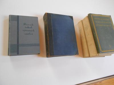Toman-Slovníky výtvarných umělců 1927,1936,1947...