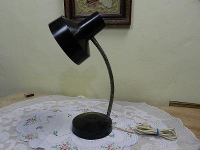 Černá bakelitová Retro stolní Lampa E40 Top Stav!
