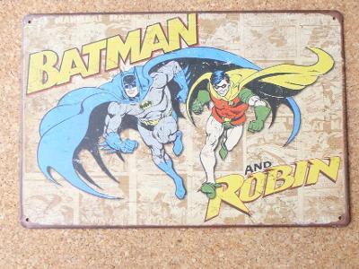 Retro reklamní cedule-Batman & Robin