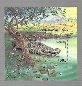 TANZÁNIE 2217 (bl.302) Aligátor  **