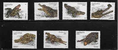 TANZÁNIE 2274-80 Krokodýli kompletní série **