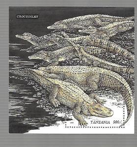 TANZÁNIE 2281(bl.316) Krokodýli  **