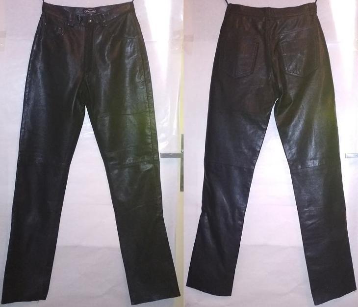 Černé kožené kalhoty - jeansy - rifle zn. KENVELO S 36 (i na moto)  (6938742848) 00838a312b