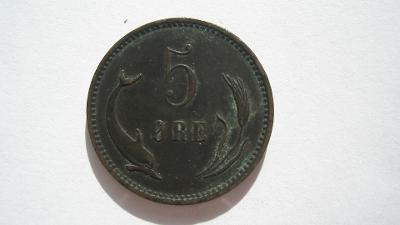 Dánsko 5 Öre 1891
