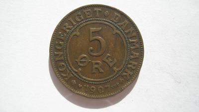 Dánsko 5 Öre 1907