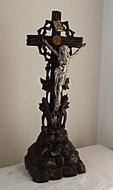 STAROŽITNÝ KŘÍŽ - JEŽÍŠ NA KŘÍŽI - KRISTUS /8352