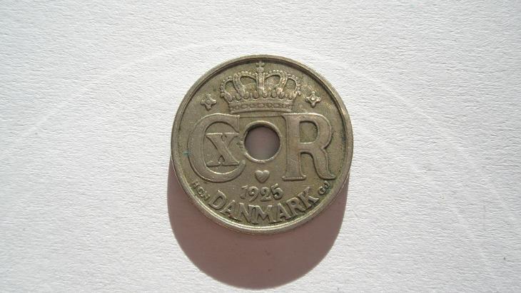 Dánsko 10 ore 1925 - Numismatika