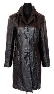 8029241af Kožený dámský černý kabát K- CERO vel. 40
