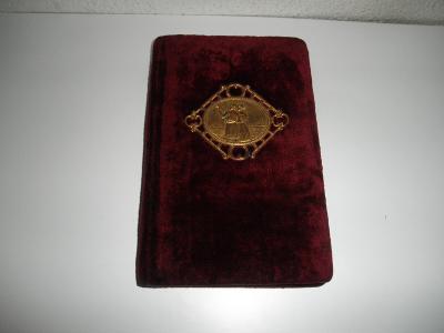 STAROŽITNÝ PAMÁTNÍK cca 20x13 cm - r.1927, zlaceno