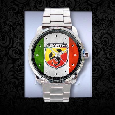 Abarth Fiat Racing Car Logo hodinky nerezová oce