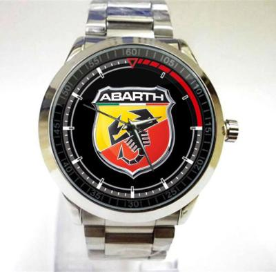 Fiat 500 Abarth Racing Logo hodinky nerezová oce