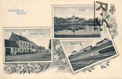 Kardašova Řečice 1910 - Jindřichův Hradec , /SX/