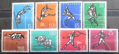 Jugoslávie 1962 ME v atletice Mi# 1016-23 20€ 1256