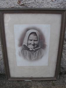 Starý obraz - obrázek - babička