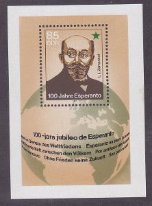DDR 1987 Esperanto, 100. výročí Mi# Block 87 0325