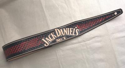 JACK DANIELS RED - kožený kytarový popruh ORIGINAL