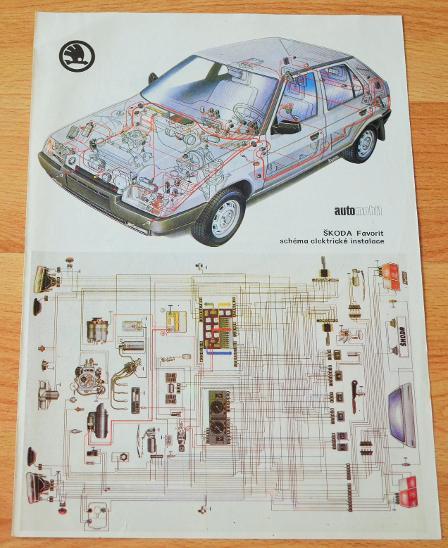 Skoda Favorit Elektroinstalace Dobovy Plakat A4 Aukro