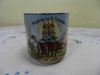 Krásný zachovalý starý Hrnek Stará Boleslav