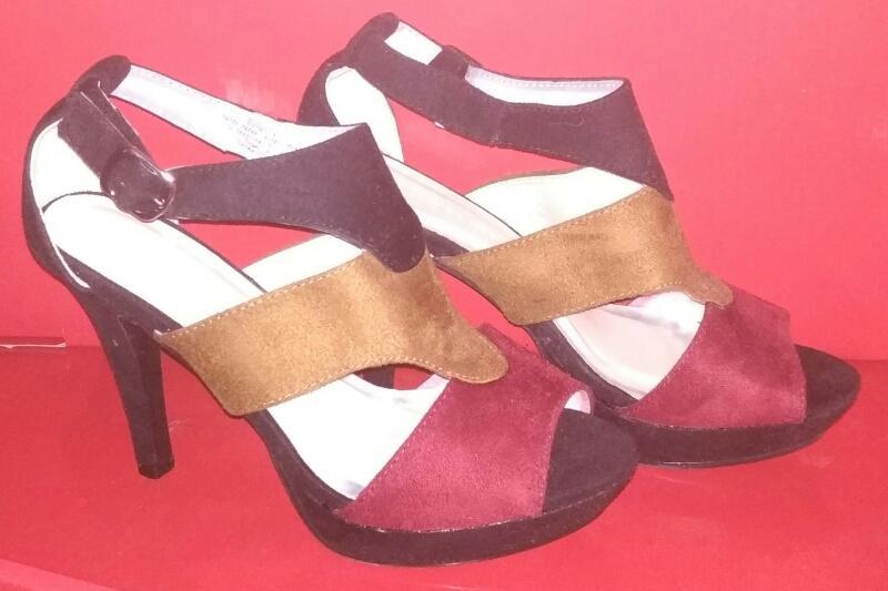 15b4ff7a5d2c Nové barevné sandálky na platformě a jehlovém podpatku BodyFlirt 36  (6934585789)