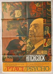 Filmový plakát Ptáci / Psycho A1 (Ziegler, 1970)