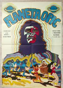 Filmový plakát Planeta opic A1 (Hlavatý, 1970)