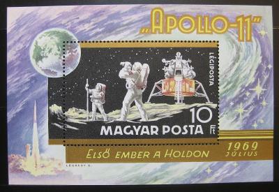 Maďarsko 1969 Projekt Apollo 11 Mi# Block 72 0307