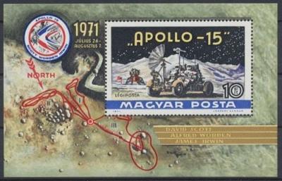 Maďarsko 1972 Projekt Apollo 15 Mi# Block 87 0311