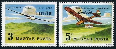 Maďarsko 1989 Závody větroňů Mi# 4033-34 0337