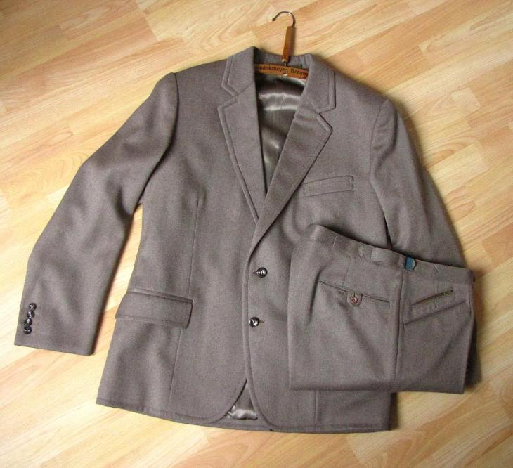 Starý pánský oblek sako kalhoty vel. L 50. léta  1102046b6c
