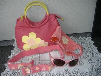 Sada  Květinová čelenka +kabelka +opasek +brýle (6937051772) 71472f31ad