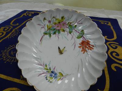 Malovaná Miska Talířek Motýl Březová staré Značení