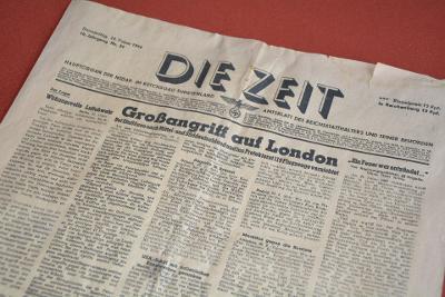 noviny DIE ZEIT 24.2.1944 Hauptorgan der NSDAP