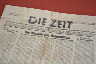 noviny DIE ZEIT 14.2.1944 Hauptorgan der NSDAP