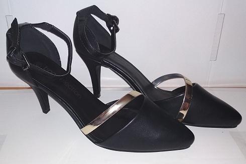 1a5f247e191e5 Nové luxusní černé lodičky b.p.c. selection Bonprix vel. 40-41 (26,5)  (6945236402)